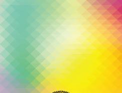 幾何形狀的彩色漸變模糊背景矢量素材