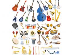 各類樂器集錦矢量素材