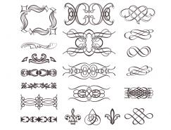 多款複古風格花邊紋樣矢量素材