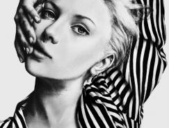 Jessica名人肖像铅笔画欣赏