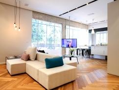 以色列现代风格90平米公寓设计