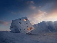 Kežmarské Hut:超现实主义立方体建筑设计