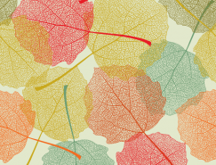 美丽的秋叶无缝背景矢量素材(2)