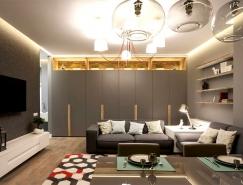 轻松舒适的现代公寓设计