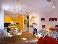 圣彼得堡开放式布局小公寓设计