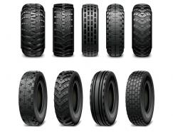 汽车轮胎矢量素材(1)
