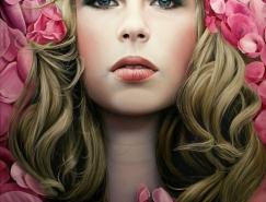 Christiane Vleugels超写实主义肖像绘画作品
