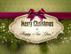 圣誕節創意卡片設計矢量素材