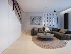 波兰设计师Monika Rogsuz柔和温馨的公寓设计