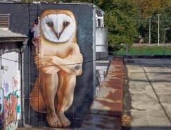 克罗地亚街头艺术家Lonac街头涂鸦艺术