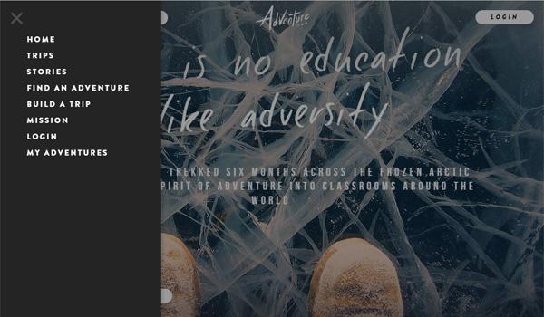 20个创新的侧边栏菜单网页设计欣赏