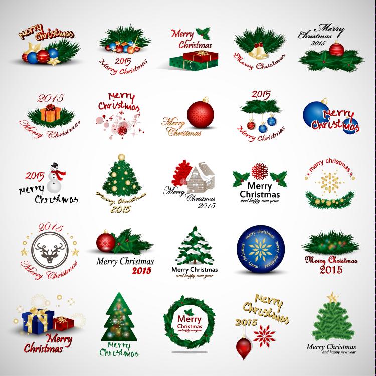 2015圣诞元素图标矢量素材(1)