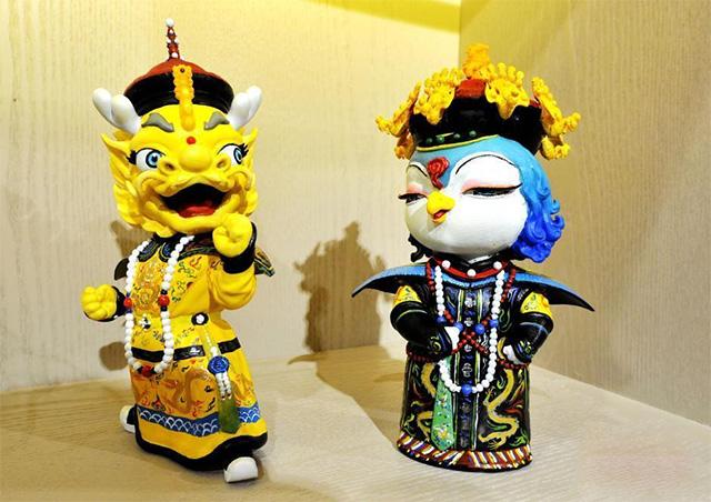 北京故宫吉祥物壮壮美美首度亮相