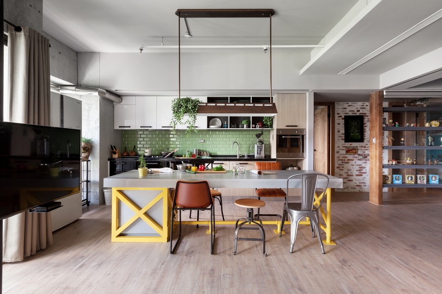 高雄122平米工业简约风格公寓设计