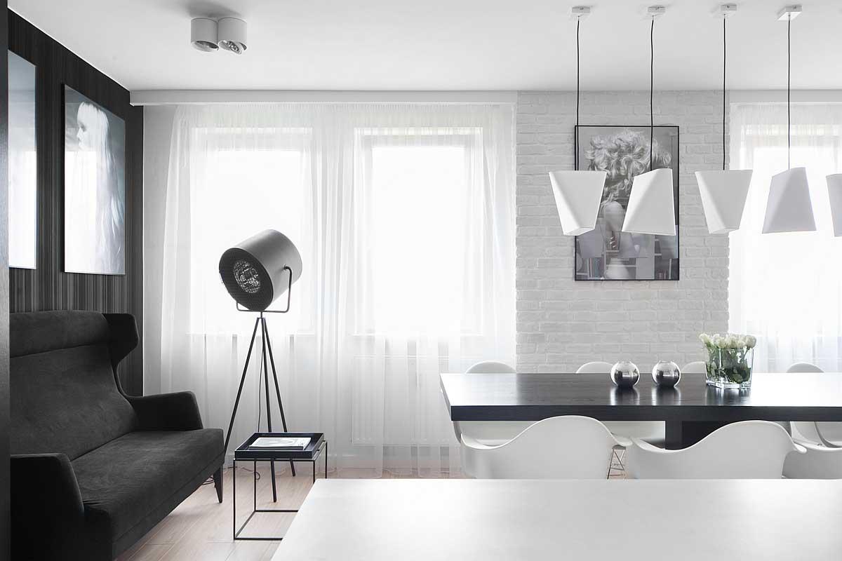 波兰M68质感黑白公寓设计