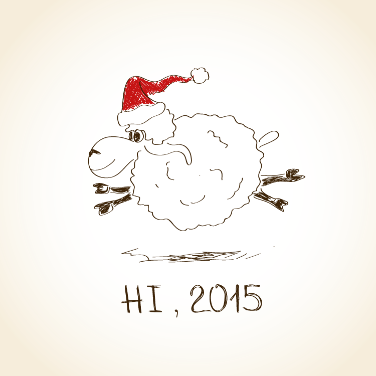 2015,羊年,手绘