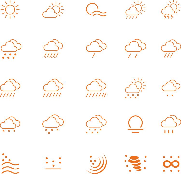 所有天气符号标志的图片_天气的标志符号图片,风天气符号,天气预报标志符号_大山谷图库