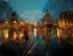 Eduard Gordeev镜头下的雨中街景