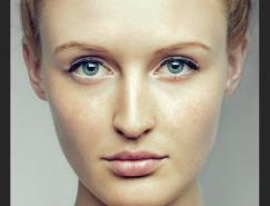 Photoshop给雀斑美女做质感美容磨皮