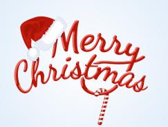 Merry Christmas聖誕快樂藝術字矢量素材