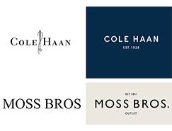 COLE HAAN和MOSS BROS更新形象标识