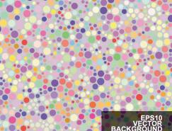 彩色圆点背景矢量素材