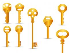 8把金钥匙矢量素材