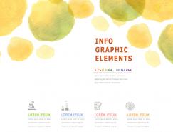 彩色铅笔和水彩晕染圆形背景矢量素材