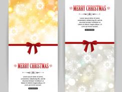 雪花背景的圣诞卡片矢量素材