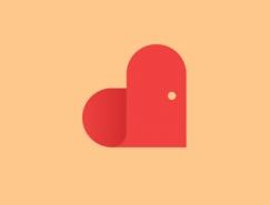 标志设计元素运用实例:爱心