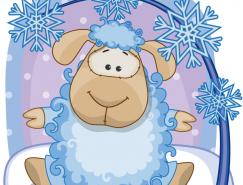 2015可爱卡通绵羊矢量素材
