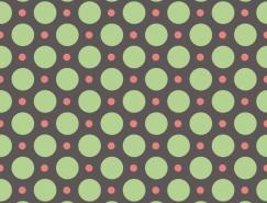 红绿圆点无缝背景矢量素材