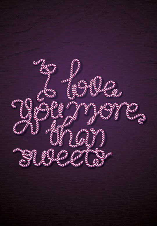 50款漂亮的糖果字体设计欣赏