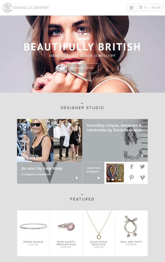 漂亮的字体和排版:25个国外网站设计欣赏(2)图片