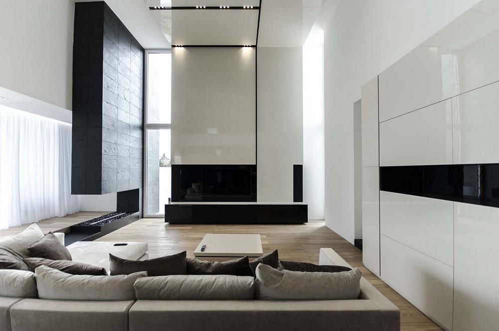 罗马尼亚timisoara现代黑白别墅设计(2)