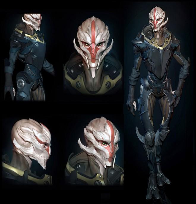 30个外星人3D模型和角色设计