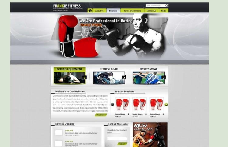 30个国外体育健身运动网站设计