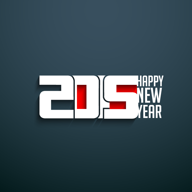 2015艺术字矢量素材