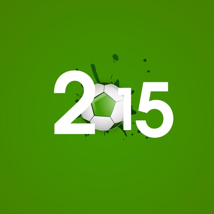 2015足球艺术字矢量素材