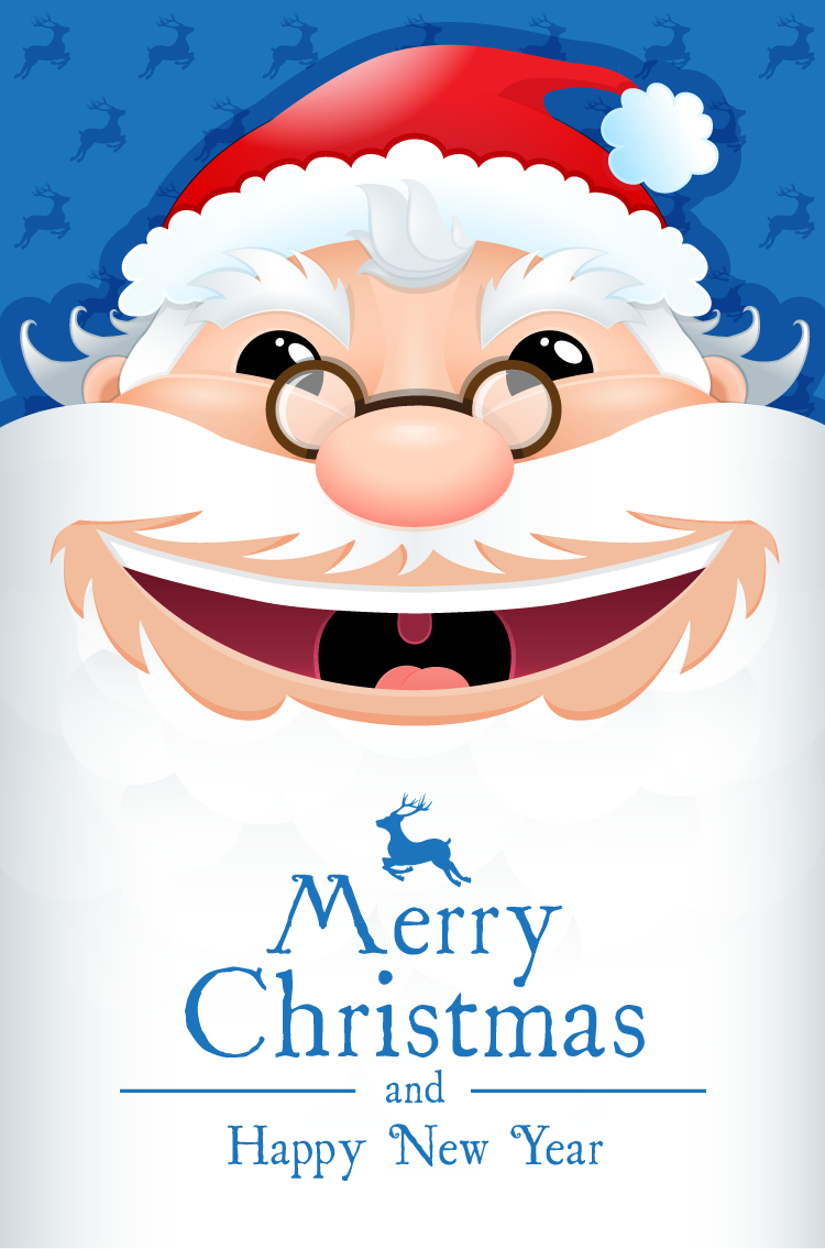 可爱卡通圣诞老人矢量素材