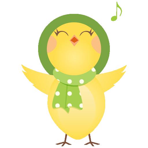 可爱卡通小鸡png图标素材