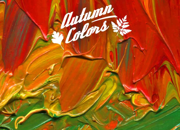 秋天的色彩:油画背景矢量素材