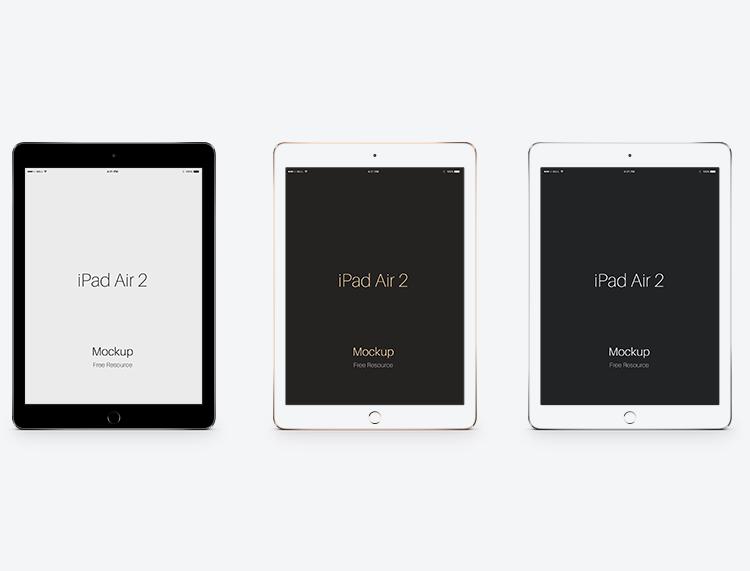 苹果ipad air2平板电脑psd素材