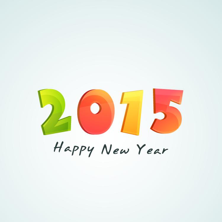 2015艺术字矢量素材(5)