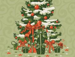 圣诞树背景矢量素材