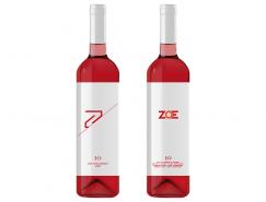 葡萄酒瓶矢量素材