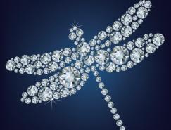 钻石蜻蜓矢量素材