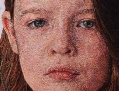 Cayce Zavaglia超寫實風格的刺繡肖像畫作品欣賞