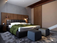 Studio Tolicci:温暖舒适的卧室,体育投注