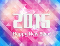 2015彩色多邊形背景矢量素材